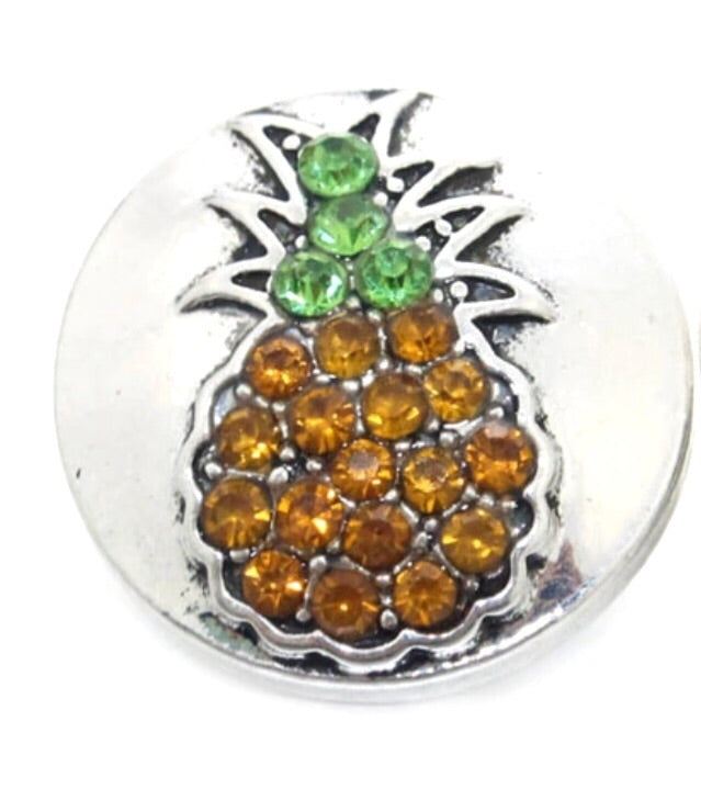 Pineapple Snap Charm