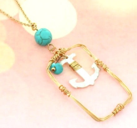 Anchor Two-Tone Necklace