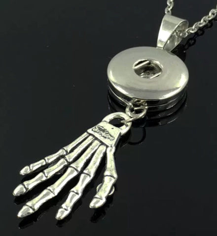 Skeleton Dangle Snap Charm Pendant
