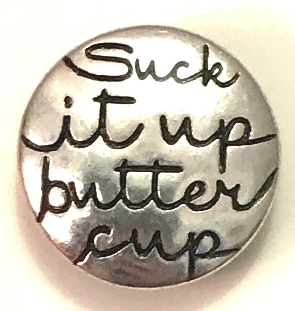 Suck It Up Metal Snap Charm