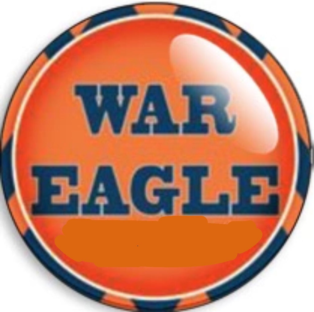 Auburn War Eagle Glass Snap Charm
