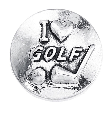 Love Golf Snap Charm