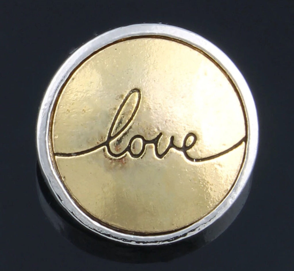 Two Tone Love Snap Charm