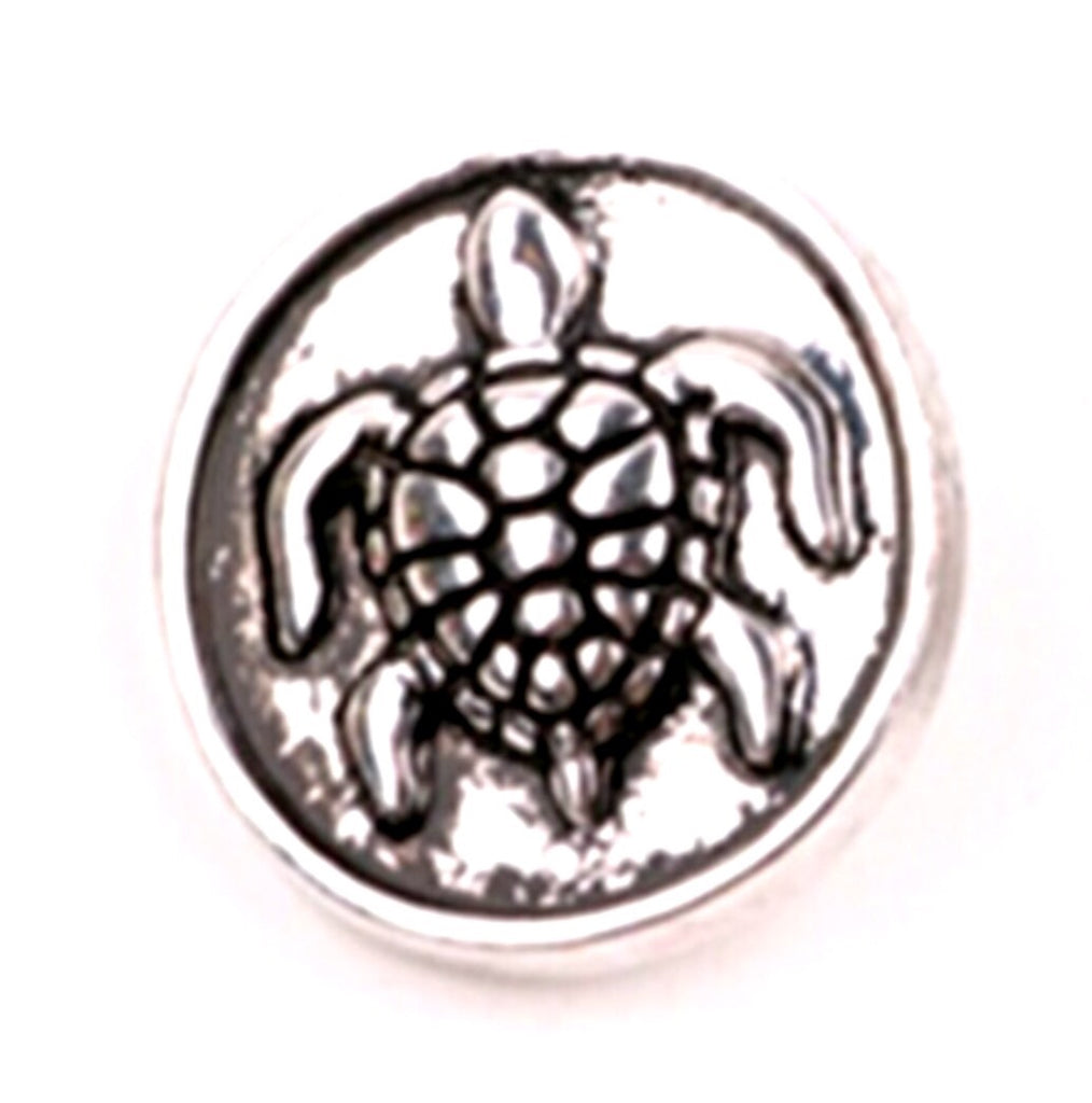 Turtle Silver Snap Charm