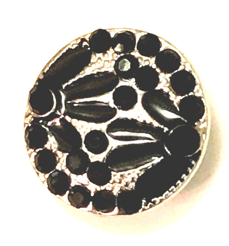 Daisy Double Black Snap Charm