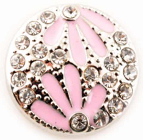 Double Daisy Pink Snap Charm