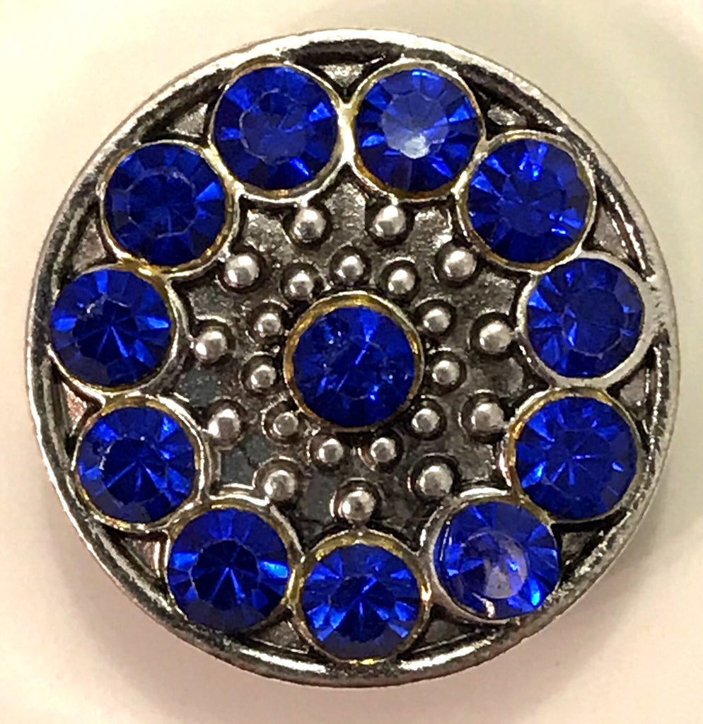 Blue Bling Snap Charm