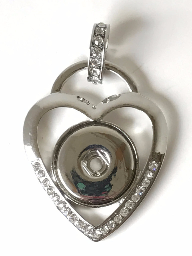 Heart Bling Snap Charm Pendant