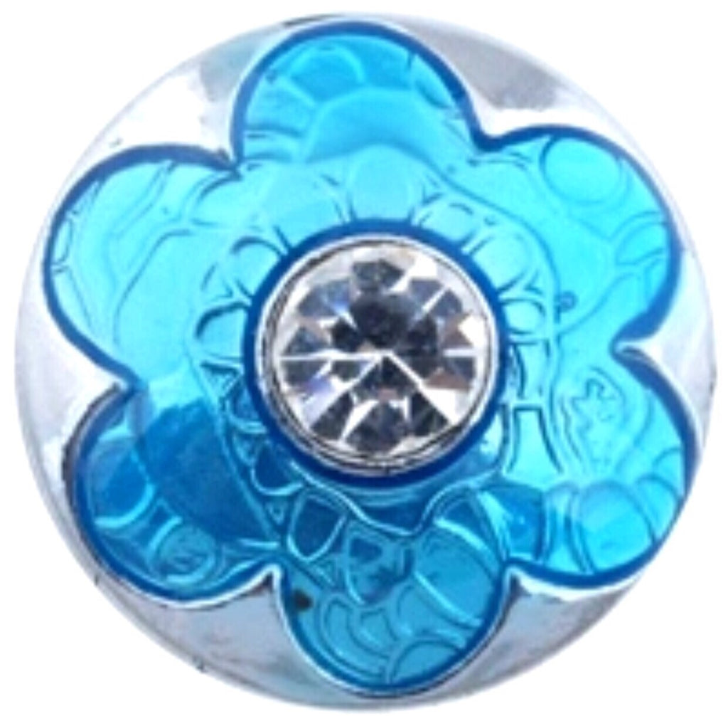 Petals of fun Teal Snap Charm