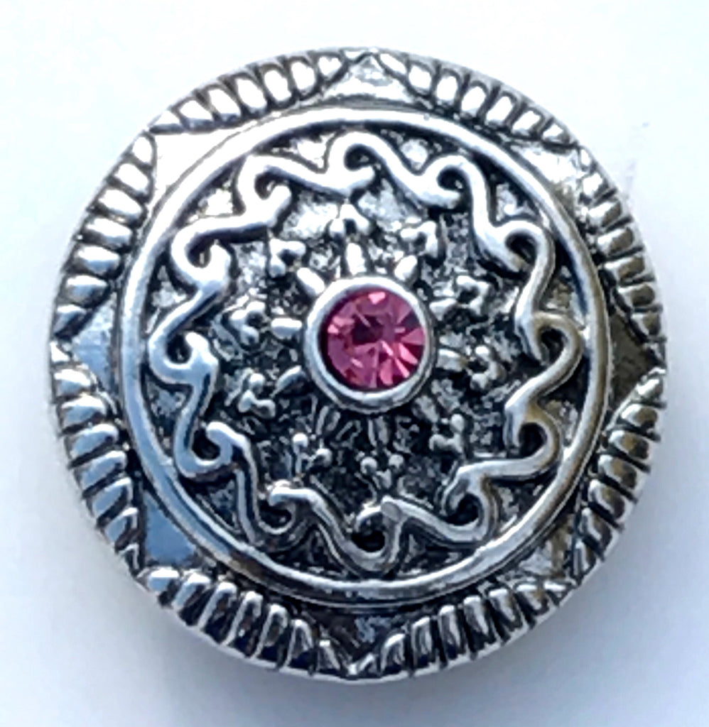 Ornate Silver Snap Charm