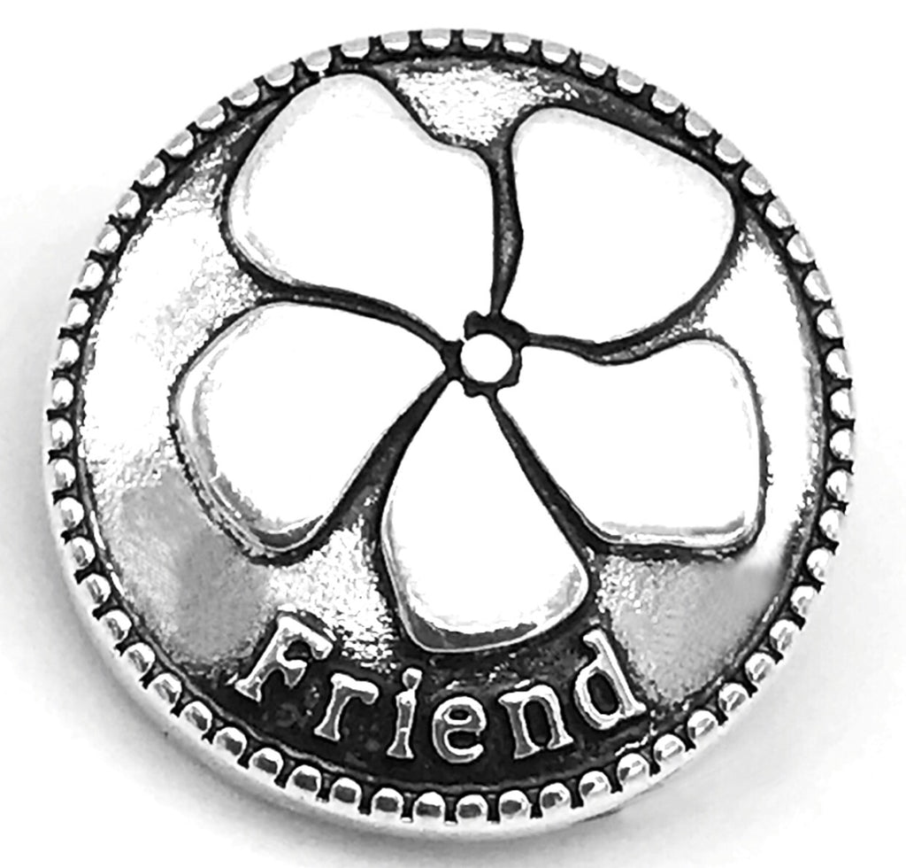 Friends are Flowers Snap Charm