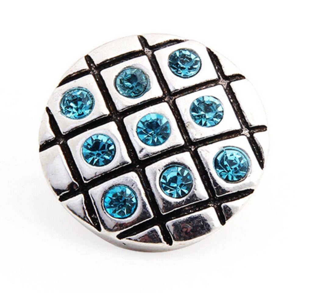 Checker board Aqua Snap Charm