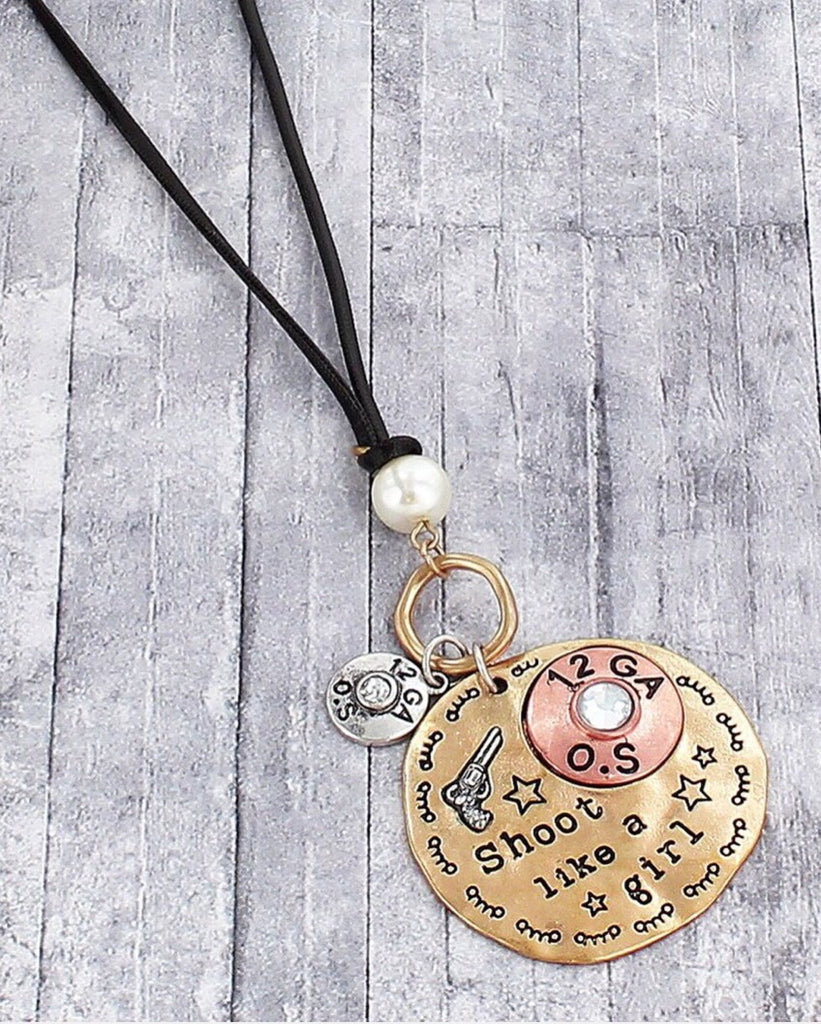 Shoot Like A Girl Swag Necklace