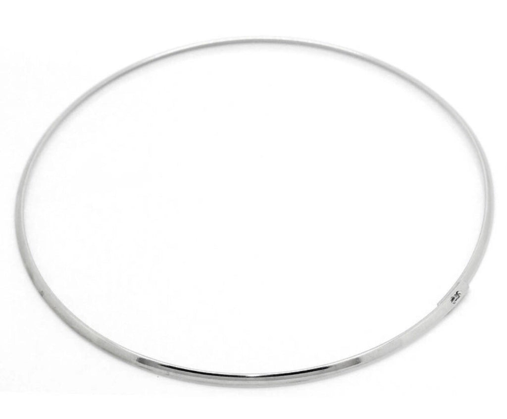 Flat Silver Locking Choker