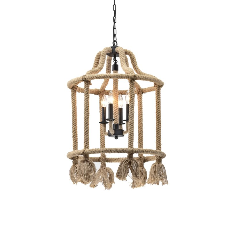 Eros 4 Light Candle Chandelier