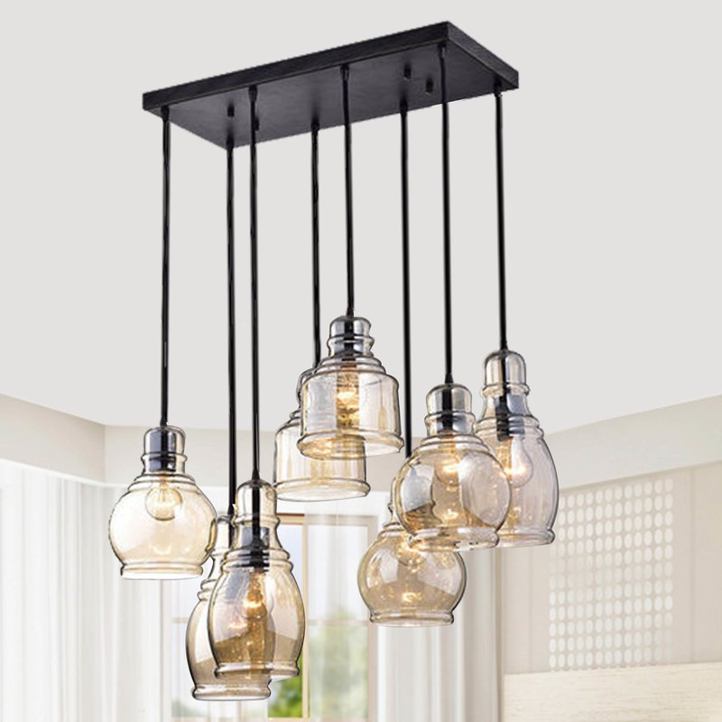 Aegaeon 8 Light Chandelier-Black