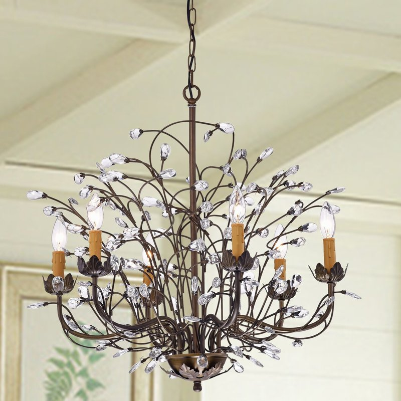 Ceto 6 Light Candle Chandelier