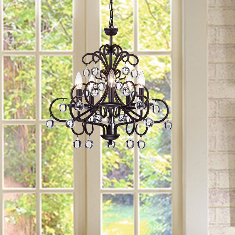 Charybids 5 Light Candle Chandelier