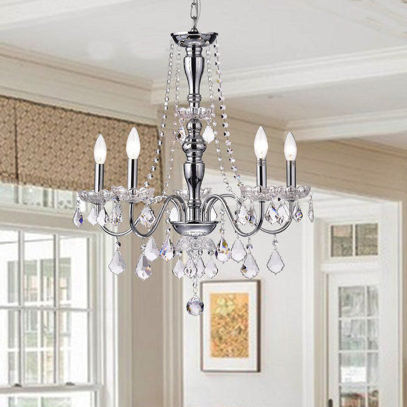 Stheno 5 Light Candle Chandelier