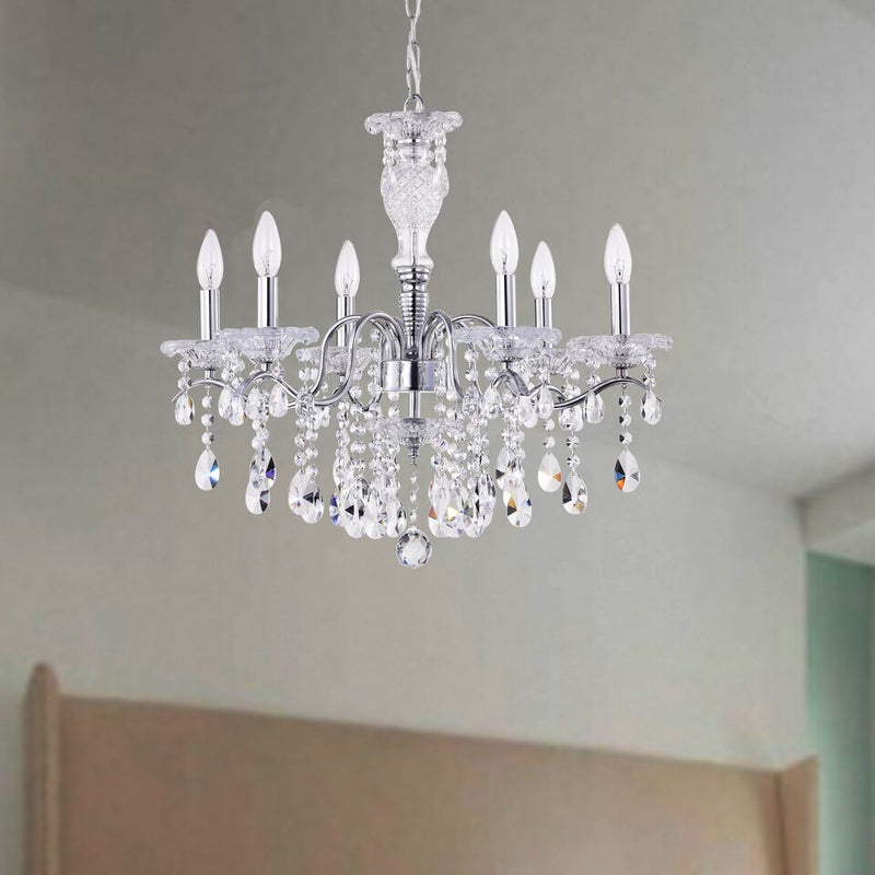 Euryale 6 Light Candle Chandelier