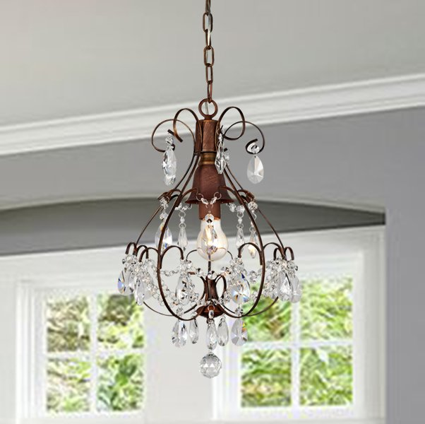 Hippocampi 1 Light Crystal Chandelier