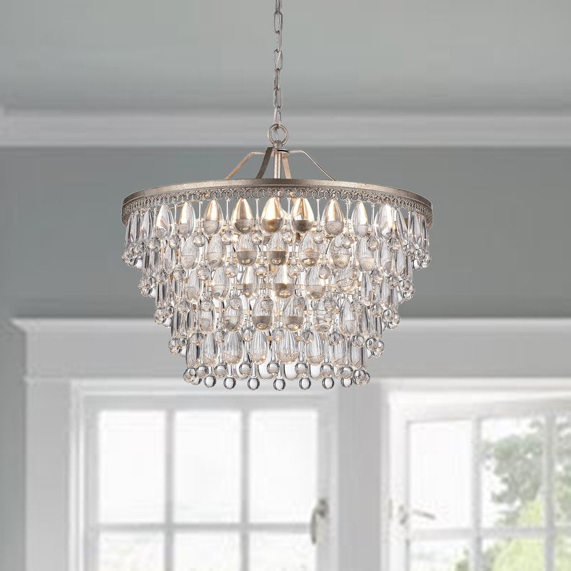 Nereides 6 Light Crystal Chandelier