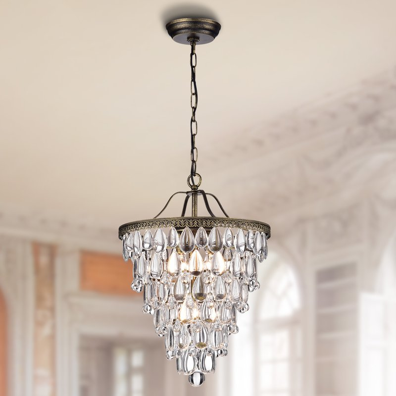 Thetis 4 Light Crystal Chandelier