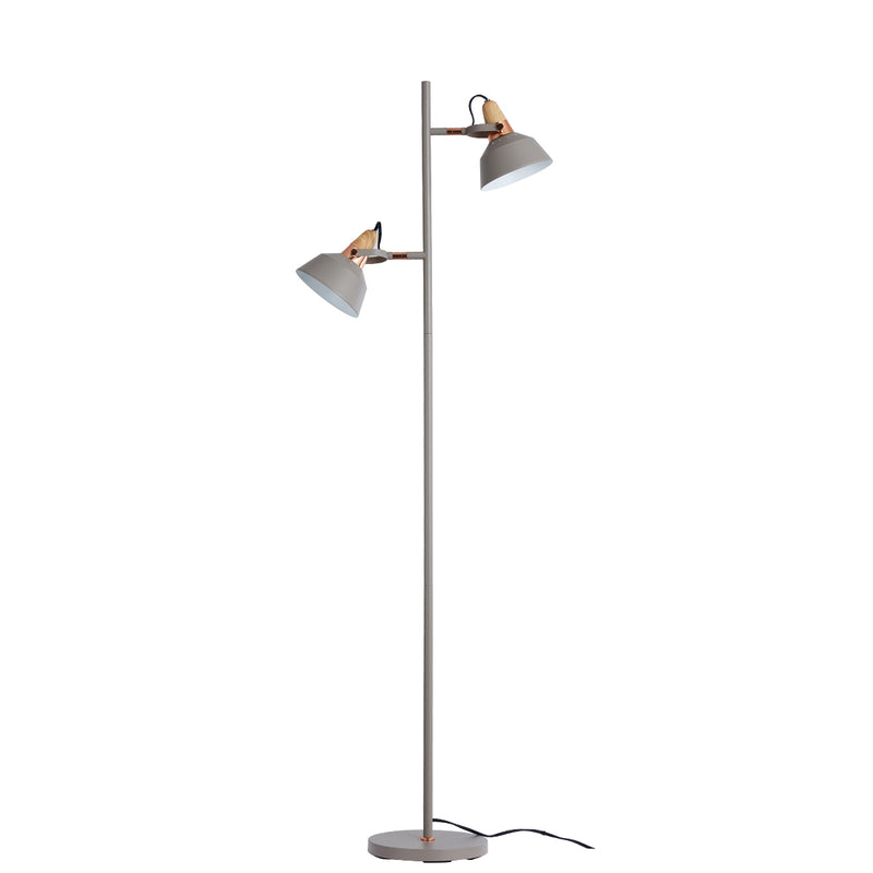 Moderno 1 Light Satin Light Gray Tree Floor Lamp
