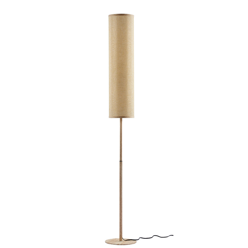 Moderno   1 Light Cylinder Wood Grain Finish Floor Lamp
