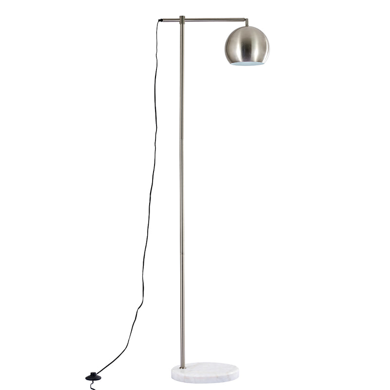 Moderno   1 Light Brushed Chrome Task Floor Lamp