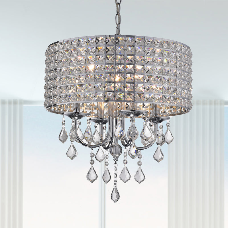 Chione 4 Lights Chandelier- Chrome
