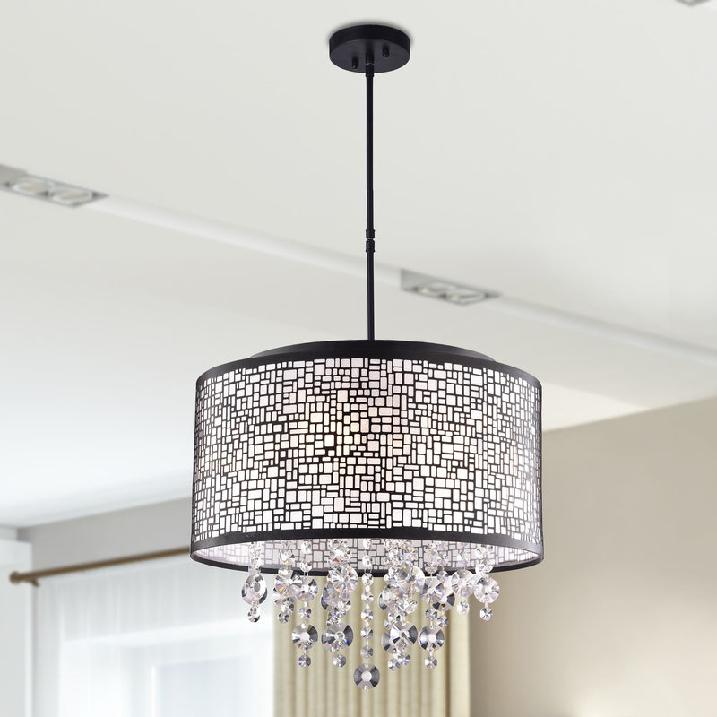 Iris 4 Lights Chandelier- Black