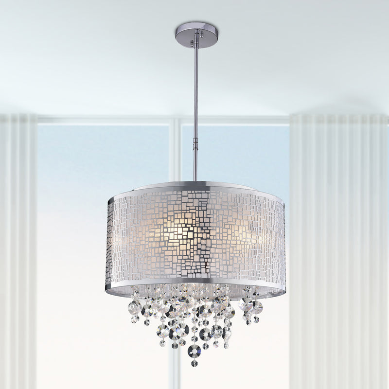 Iris 4 Lights Chandelier- Chrome