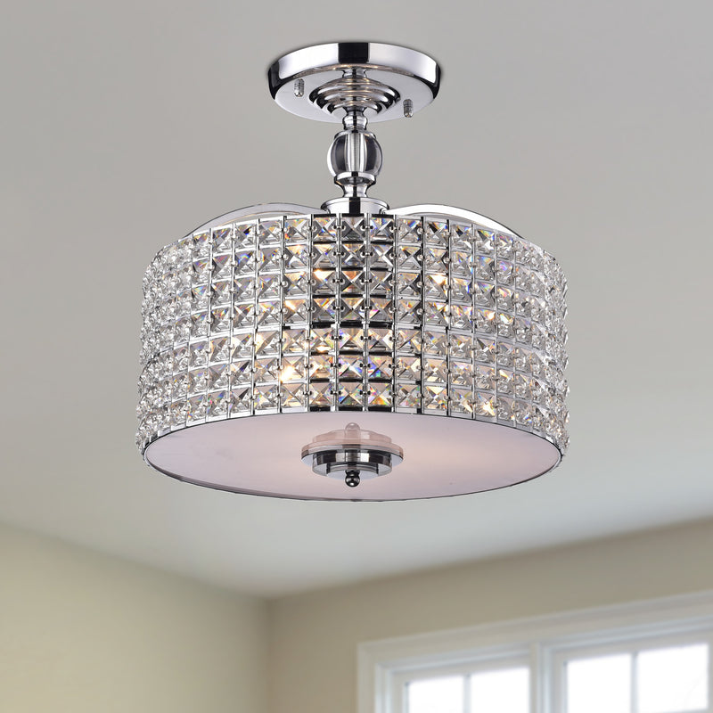 Pandia 3 Lights Semi-Flush Mount Chrome