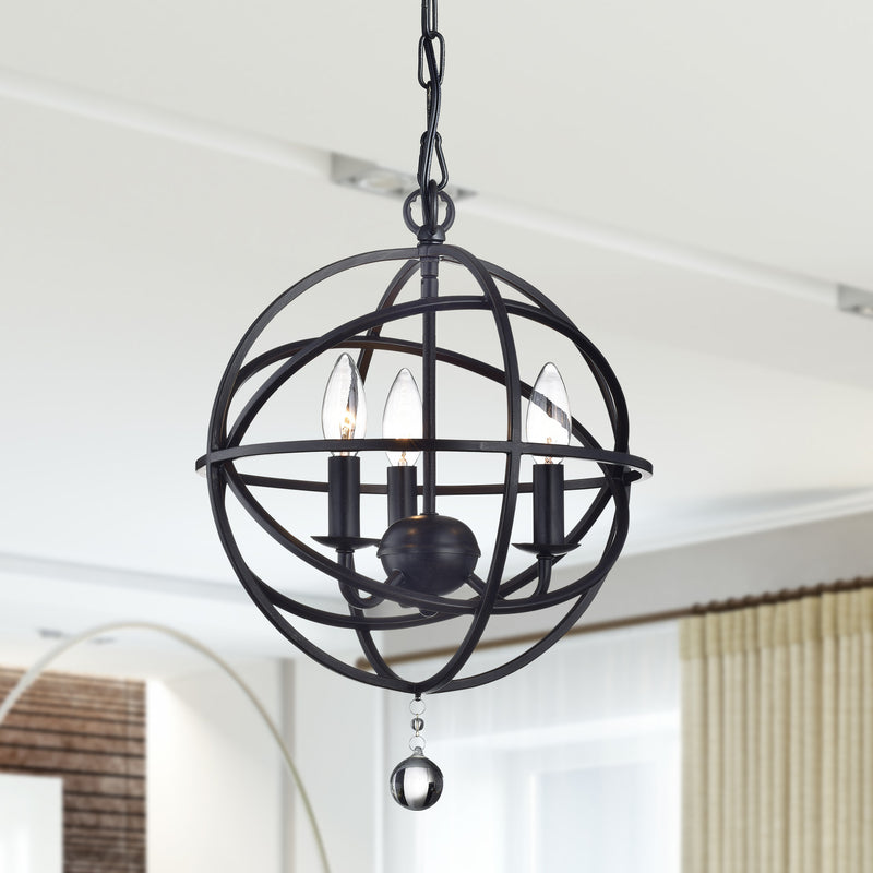 Boreas 3 Lights Globe Pendant