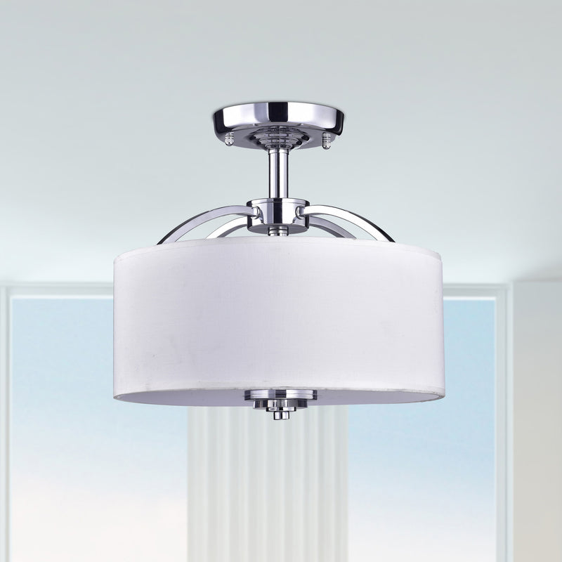 Uranus 3 Lights Semi-Flush Mount