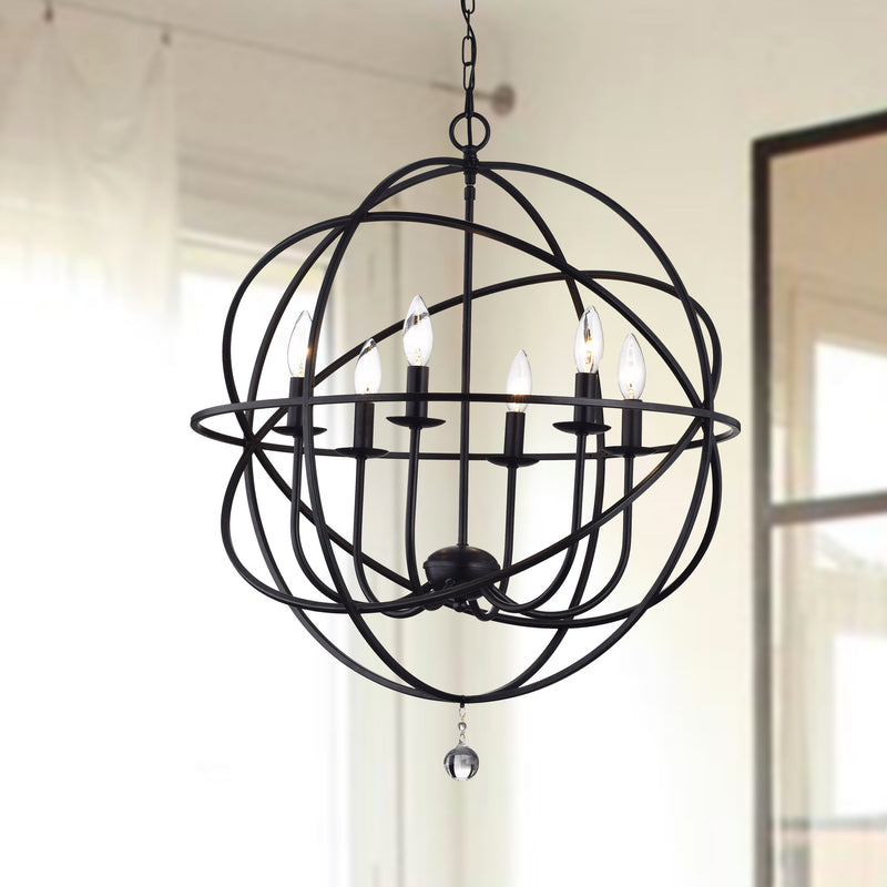 Agon 6 Light Globe Pendant