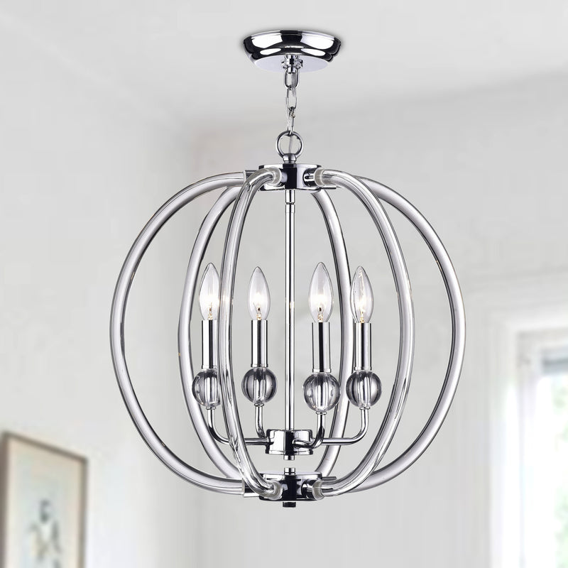 Cirus 4 Light Semi-Flush Globe Pendant
