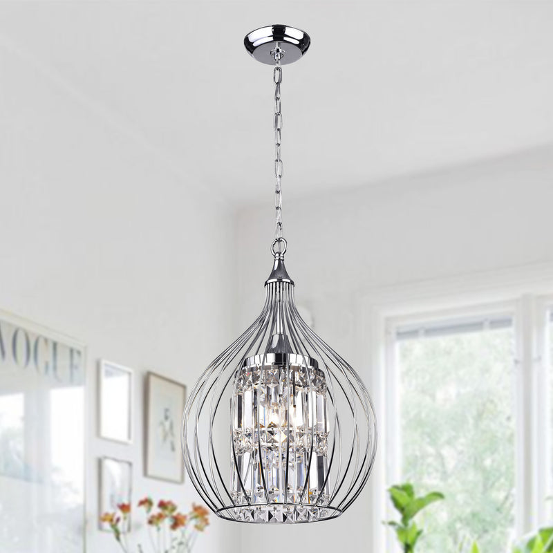 Lcarus 3 Light  Foyer Pendant-Chrome