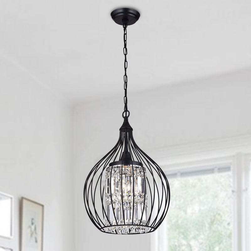 Lcarus 3 Light  Foyer Pendant-Black