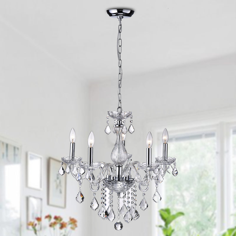 Dike 5 Light Candle Chandelier