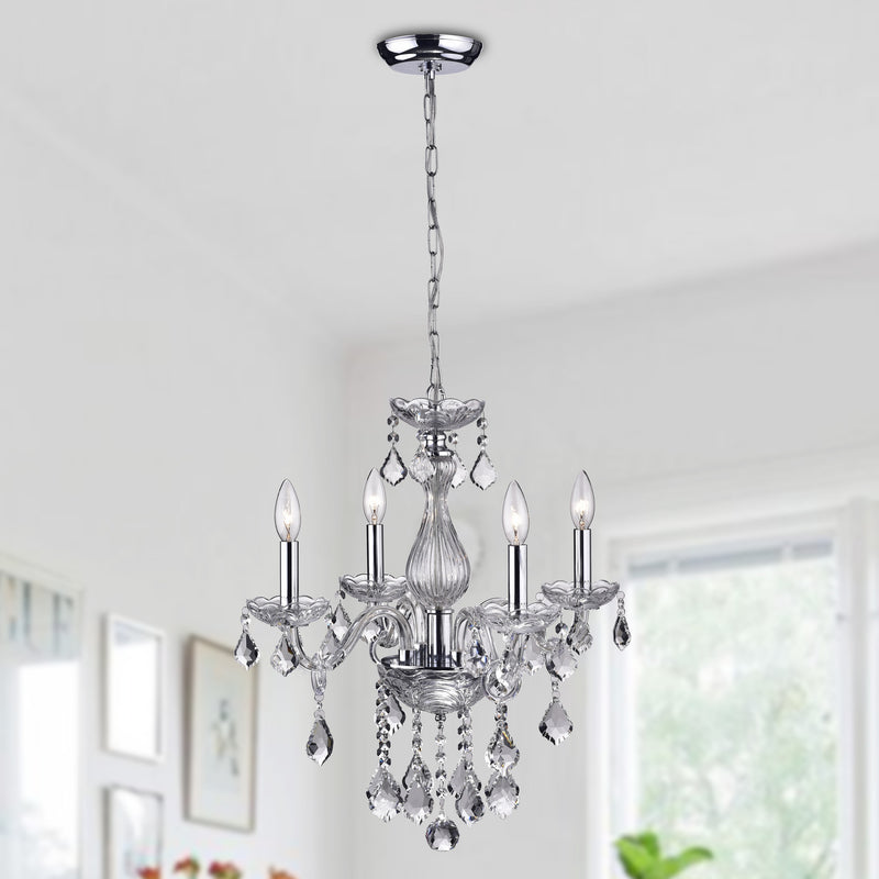 Arete 4 Light Candle Chandelier