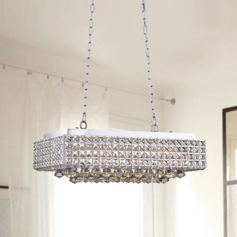 Angelia 8 Light Chandelier Chrome