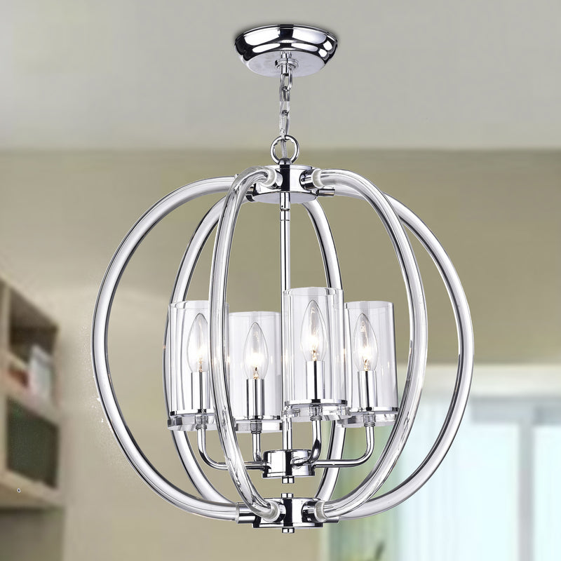 Rhea 4 Light Semi-Flush Pendant