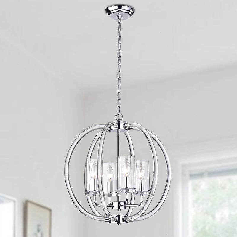 Rhea 4 Light Globe Pendant
