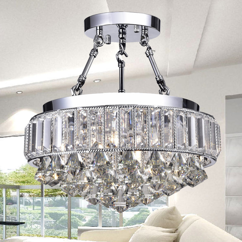 Themis 4 Light Semi-Flush Mount