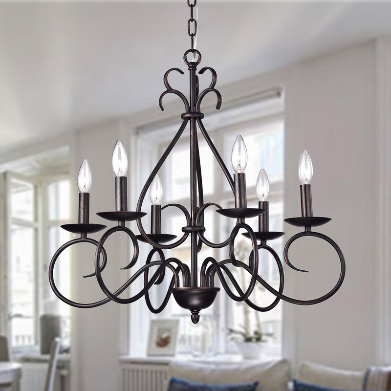 Aura 6 Light Chandelier