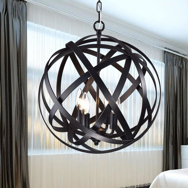 Clymene 4 Light Globe Pendant