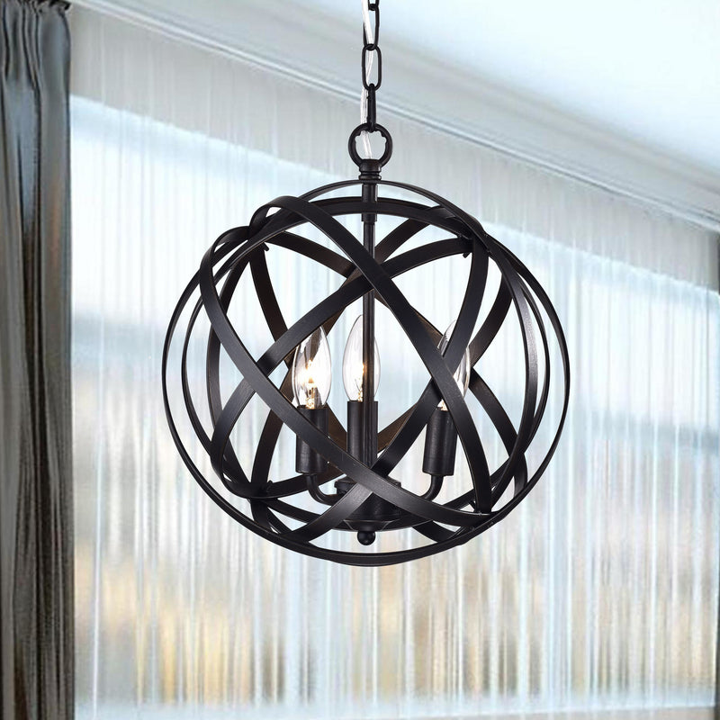 Metis 3 Light Globe Pendant