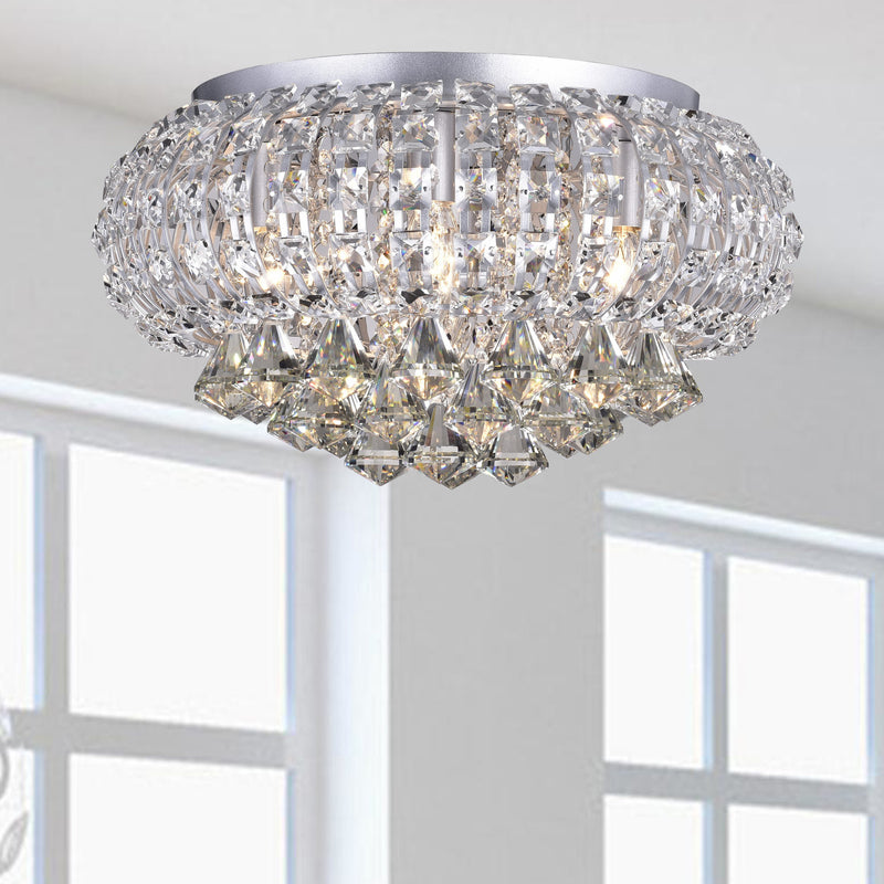 Persesi 5 Light Flush Mount- Chrome